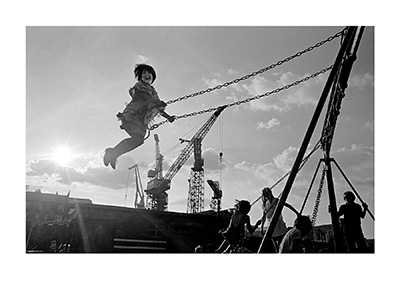 Image of A Playground by the Shipyards, Govan (Edition of 20) by Nick Hedges