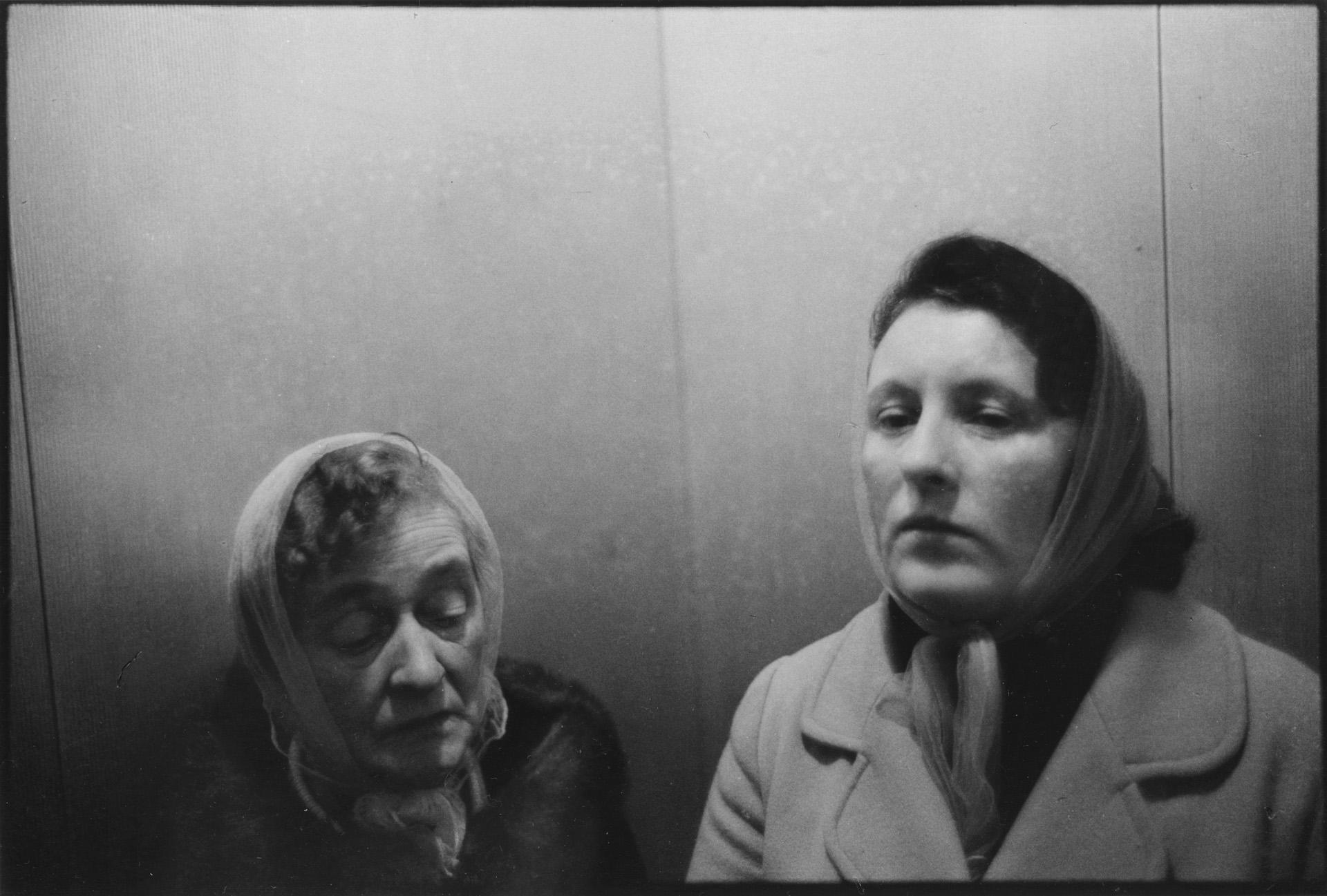Alice Reilly & Alice Bardburn, Lift, Red Road Flats; Glasgow.