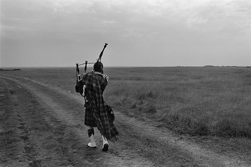 Image of Practising Piper, Dornoch Show by Glyn Satterley