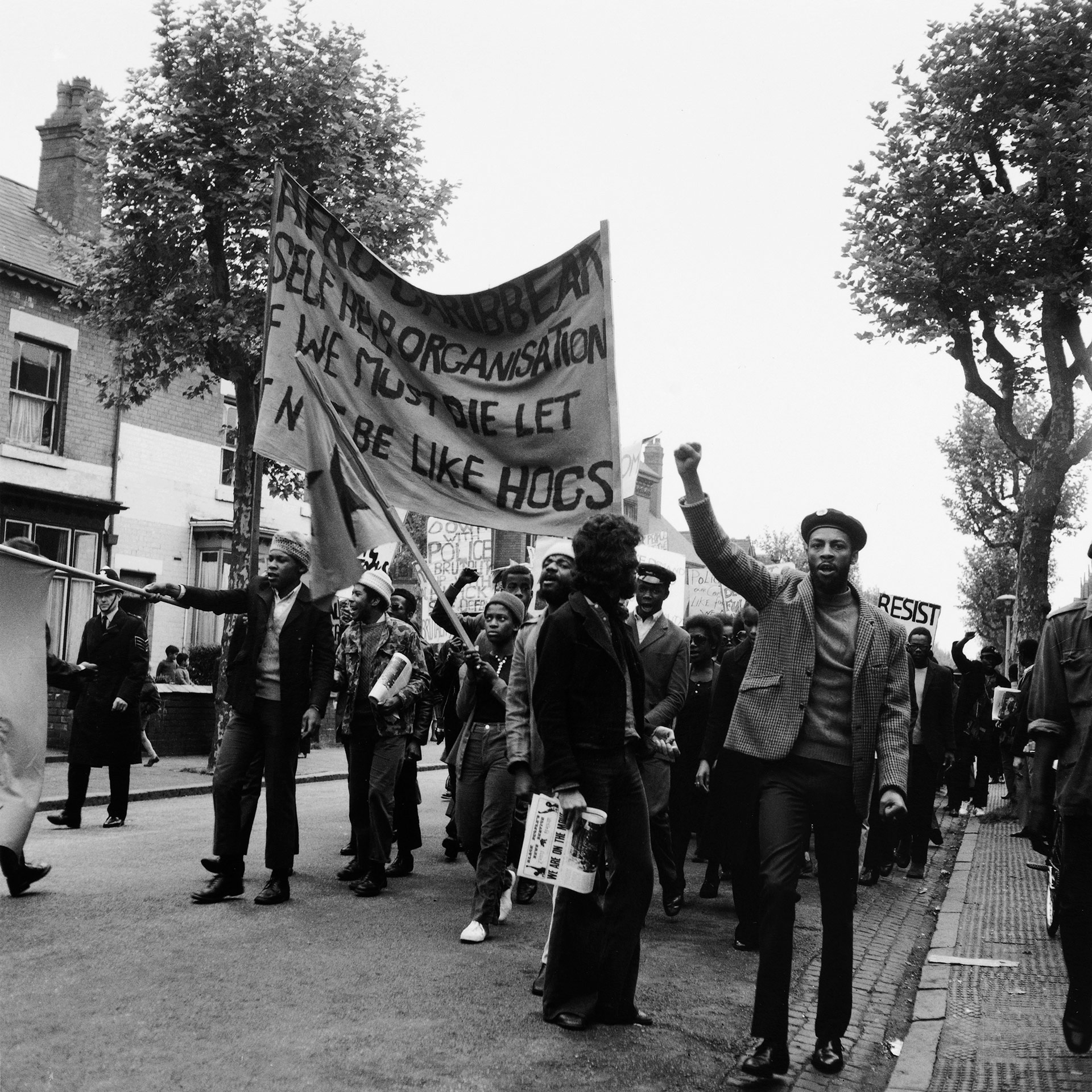 Protesting against racism and police brutality, 1972