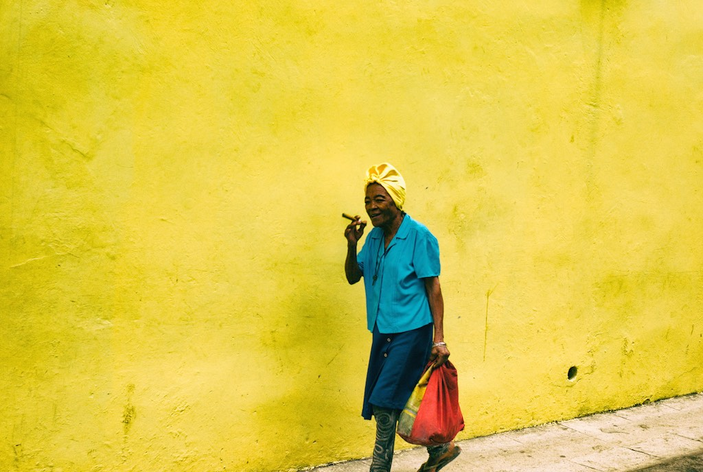 Image of Lady with Cigar, Havana by Iain Clark