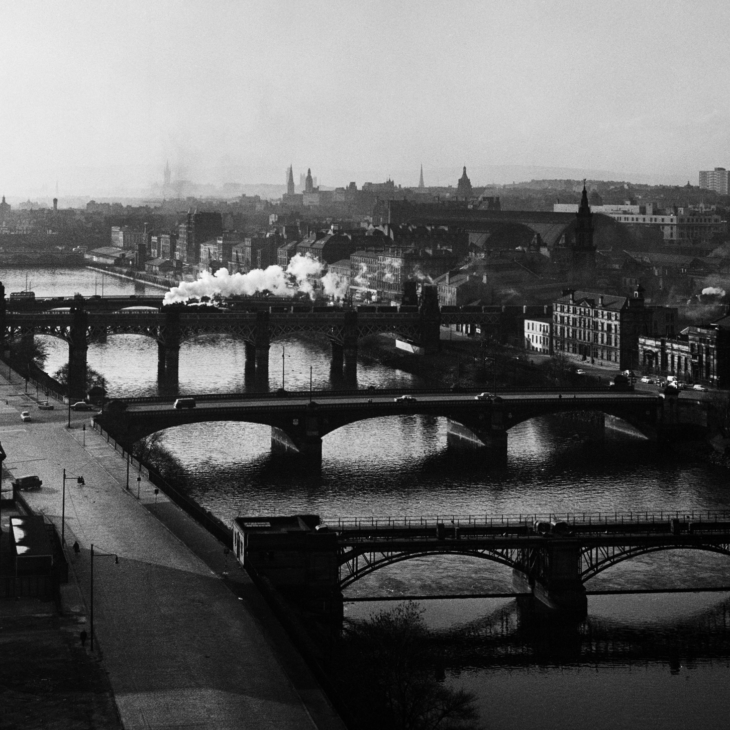 Image of Bridges over the River Clyde (1963) by Oscar Marzaroli