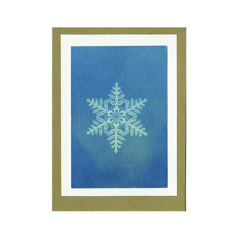Image of Snowflake Cyanotype Card by Mhairi Law