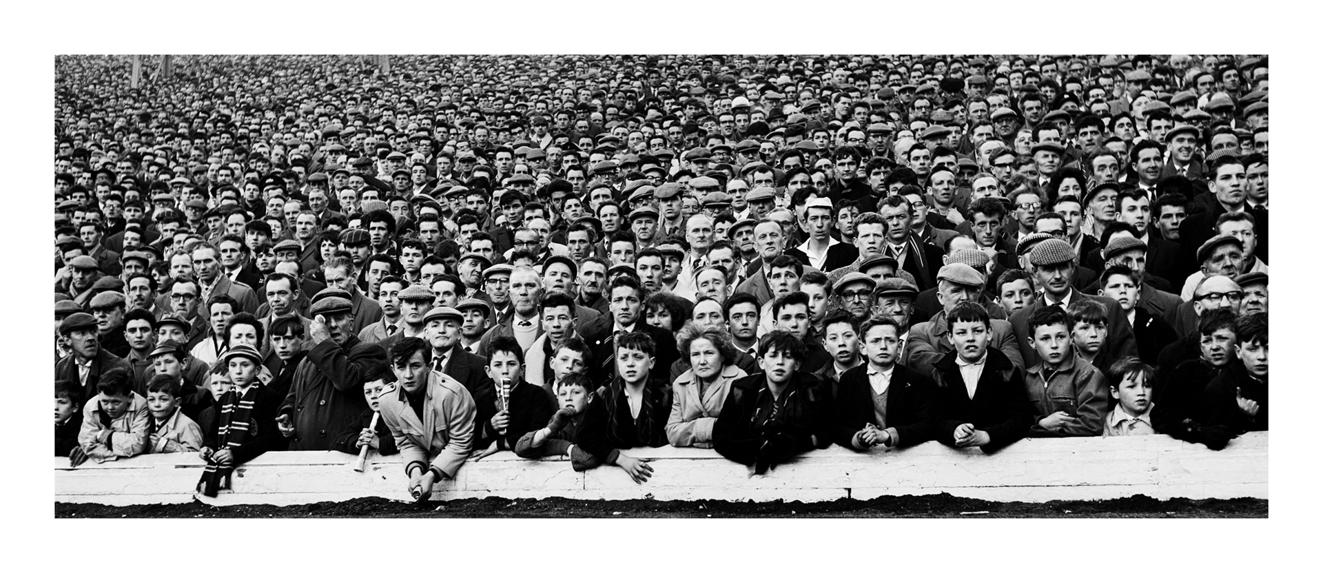 Image of Expectation, Celtic End, Cup Final, Hampden Park (1963) by Oscar Marzaroli