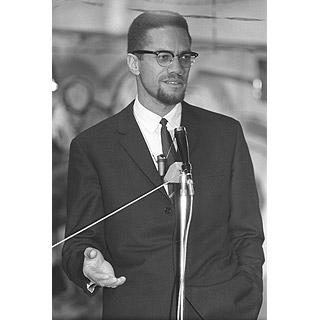 Image of Malcolm X by John 'Hoppy' Hopkins