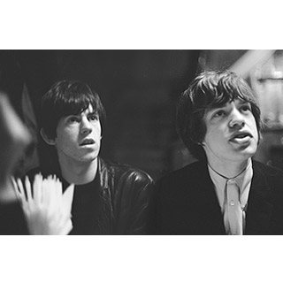 Image of Mick Jagger and Keith Richards by John 'Hoppy' Hopkins