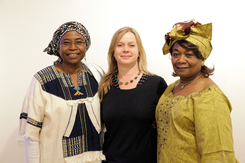 From left: Mukami McCrum, Iseult Timmermans and Harriette Campbell.